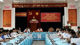 Cà Mau xác định ba đột phá chiến lược thúc đẩy phát triển kinh tế - xã hội