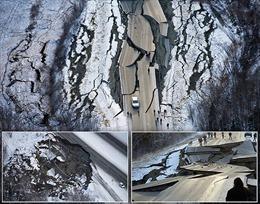 Đường cao tốc gãy gập vụn vỡ vì động đất mạnh tại Mỹ
