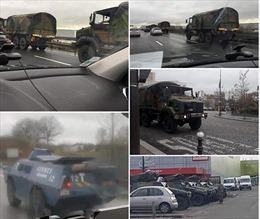 Xe quân sự Pháp rầm rập về Paris trước khả năng biểu tình cuối tuần