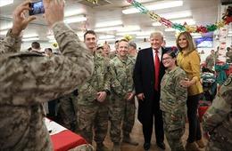 Binh sĩ Mỹ tại Iraq hân hoan với chuyến thăm bất ngờ của Tổng thống Trump