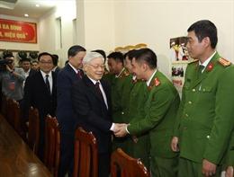 Tổng Bí thư, Chủ tịch nước Nguyễn Phú Trọng thăm, chúc Tết Đội cảnh sát 113, Trung tâm điều độ hệ thống điện quốc gia