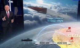 Truyền hình Nga 'điểm danh' các cơ sở quân sự Mỹ nằm trong tầm bắn tên lửa siêu thanh