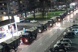 Italy triển khai phương tiện quân sự hỗ trợ cuộc chiến chống dịch COVID-19