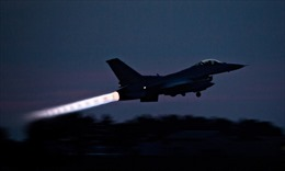 Video tiêm kích F-16 của Mỹ rơi, bốc cháy nghi ngút trong lúc huấn luyện