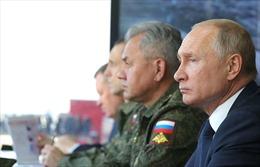 Tổng thống Nga dự khán giai đoạn chính trong tập trận Kavkaz-2020