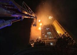 Video cháy chung cư 33 tầng ở Hàn Quốc khiến 88 người nhập viện