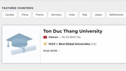 Lần đầu tiên Việt Nam có trường đại học lọt vào Top 700 của thế giới