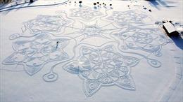 Ngỡ ngàng trước vẻ đẹp của tuyệt tác trên tuyết ở Phần Lan