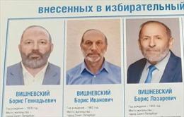 Hy hữu ba ứng cử viên trùng tên và diện mạo giống nhau trong bầu cử ở Nga