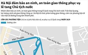Hà Nội đảm bảo an ninh, an toàn giao thông phục vụ lễ tang Chủ tịch nước