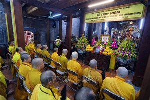 Giáo hội Phật giáo Việt Nam tổ chức Lễ truy niệm Chủ tịch nước Trần Đại Quang