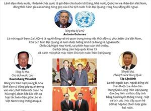 Nhiều lãnh đạo thế giới đánh giá cao Chủ tịch nước Trần Đại Quang