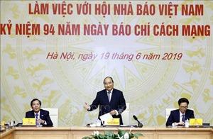 Thủ tướng Nguyễn Xuân Phúc làm việc với Hội Nhà báo Việt Nam