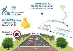Sắp khởi công Dự án đường bộ cao tốc Cam Lộ-La Sơn
