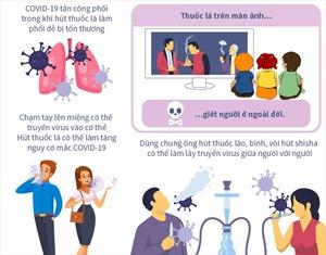 Hút thuốc lá làm tăng nguy cơ mắc, tử vong do COVID-19