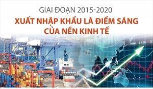Xuất nhập khẩu là điểm sáng của nền kinh tế trong giai đoạn 2015-2020