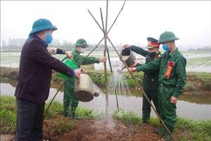 Hưng Yên: Phát động trồng 'Hàng cây quân dân'trước ngày giao nhận quân