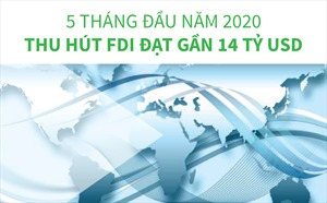 5 tháng, thu hút FDI đạt gần 14 tỷ USD