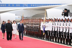 Hình ảnh ấn tượng trong ngày đầu tiên Hội nghị Thượng đỉnh liên Triều