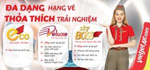 Thỏa thích trải nghiệm hạng vé mới Deluxe cùng Vietjet với khuyến mại tới 50%
