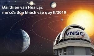 Đài thiên văn Hòa Lạc mở cửa đón khách vào quý II/2019