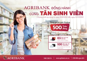 Agribank Đồng hành cùng Tân sinh viên 2020