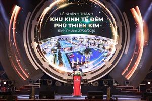 Chính thức khánh thành Khu kinh tế đêm Phú Thiên Kim (Bình Phước)