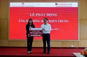 Agribank Chi nhánh Yên Bái quyên góp hơn 100 triệu đồng ủng hộ đồng bào miền Trung