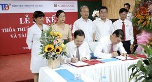 Agribank Chi nhánh Bình Thạnh ký kết thỏa thuận hợp tác với Bệnh viện TP. Thủ Đức (TP. Hồ Chí Minh)
