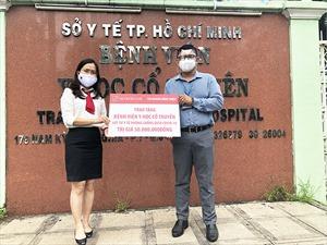 Agribank Chi nhánh Bình Triệu tặng 50 triệu là vật tư y tế cho Bệnh viện Y học Cổ truyền