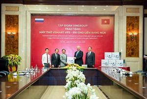 Vingroup trao 1.000 máy thở cho Nga, Ucraina và Singapore
