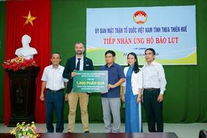 Huda trao tặng 4.000 phần quà cho đồng bào miền Trung bị ảnh hưởng lũ lụt