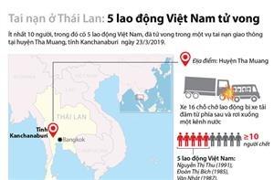 5 lao động Việt Nam tử vong trong vụ tai nạn giao thông ở Thái Lan