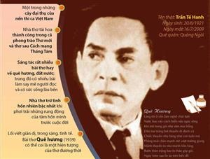Tế Hanh - một đời thơ gắn bó với đất nước, quê hương