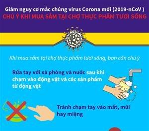 Giảm nguy cơ mắc chủng virus Corona mới (2019-nCoV): Chú ý khi mua sắm tại chợ thực phẩm tươi sống