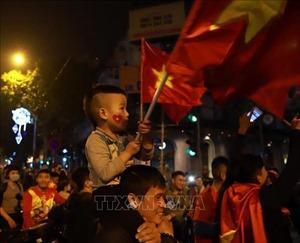 Cổ động viên đổ ra đường sau chiến thắng của U23 Việt Nam trước đội tuyển Thái Lan