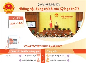Những nội dung chính của Kỳ họp thứ 7, Quốc hội khóa XIV