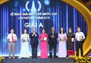 Những tác phẩm xuất sắc được vinh danh tại Giải Báo chí quốc gia lần thứ XIII