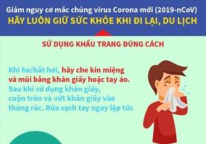 Sử dụng khẩu trang đúng cách để giảm nguy cơ mắc virus Corona