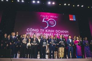 Tập đoàn Đất Xanh lọt 'Top 50 Công ty kinh doanh hiệu quả nhất Việt Nam năm 2019'