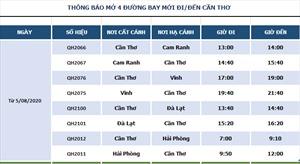 Bamboo Airways khai trương 4 đường bay Cần Thơ - Hải Phòng/Cam Ranh/Đà Lạt/Vinh