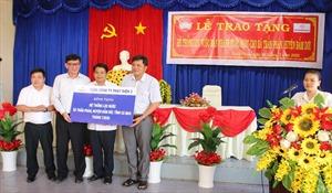 EVNGENCO 3 trao tặng hệ thống lọc nước nhiễm mặn tại Cà Mau