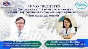 Bệnh viện K tư vấn trực tuyến điều trị ung thư