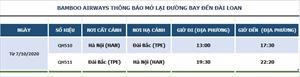 Bamboo Airways khai thác chuyến bay thẳng thường lệ Hà Nội – Đài Bắc đầu tiên sau dịch