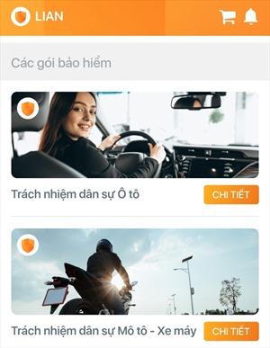 LIAN - Ứng dụng đầu tiên cấp giấy chứng nhận điện tử cho bảo hiểm xe cơ giới