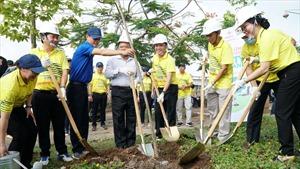 """EVNSPC với chương trình trồng 1 tỷ cây xanh và tham gia """"Vrace 2021 – Cùng miền Tây vượt hạn mặn"""""""