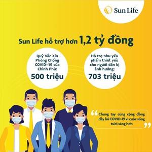 Sun Life Việt Nam đóng góp hơn 1,2 tỷ đồng phòng chống dịch COVID-19