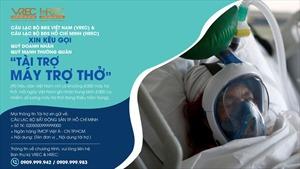 VREC và HREC kêu gọi tài trợ máy trợ thở cho bệnh viện và các đơn vị y tế