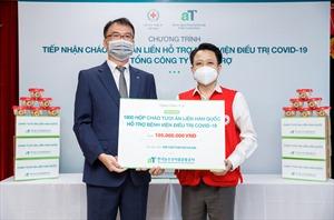 Tặng 1.800 phần quà cho bệnh nhân COVID-19 tại Hà Nội