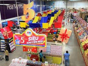 MM Mega Market Việt Nam siêu khuyến mãi nhân kỷ niệm 5 năm sinh nhật Vàng